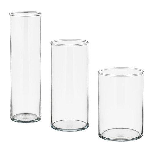 Dažādu izmēru stikla cilindri