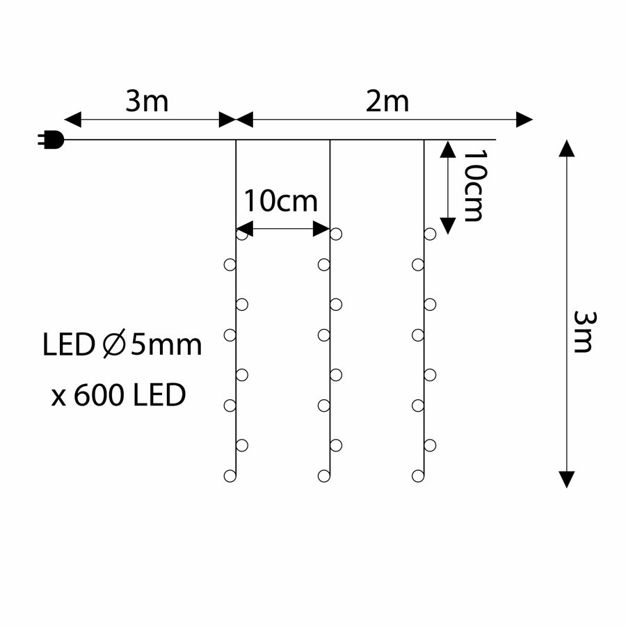 LED lampiņu aizkars